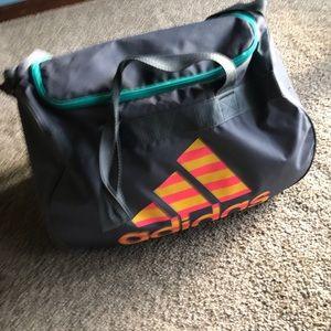 Adidas Grey Gym Over the Shoulder Duffle Bag
